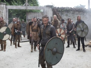 Ragnar con sus compañeros de batalla