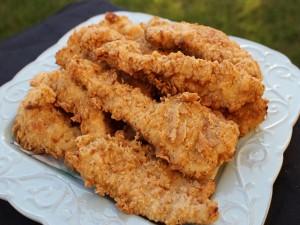 Postal: Plato con pollo frito crujiente