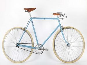 Bicicleta azúl