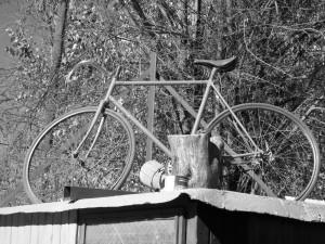 Bicicleta en el tejado