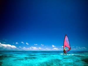 Windsurf en aguas tranquilas