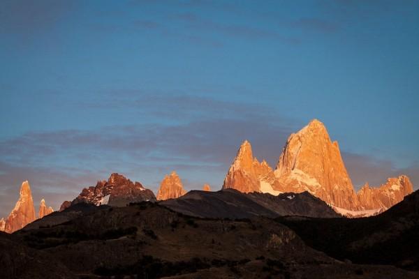 Salida del sol en El Chaltén (Patagonia, Argentina)