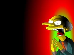 Postal: El Señor Burns