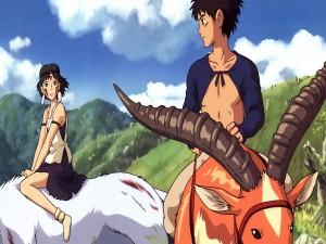 Asitaka y San (Princesa Mononoke)