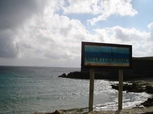 Postal: Mar Mediterráneo desde la Punta de Tarifa