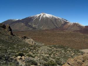 Postal: El Teide desde los altos de Guajara