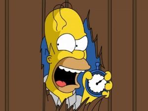 Postal: Homer colérico