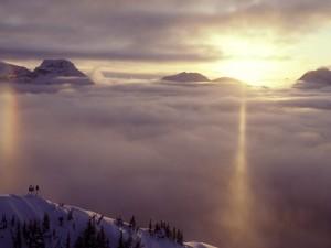 Postal: Sobre las nubes