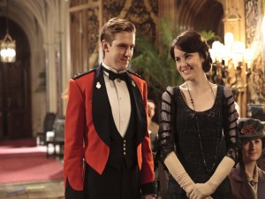 "Mary y Matthew en ""Downton Abbey"""