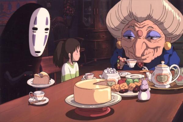 Chihiro en casa de Zeniba, hermana gemela de Yubaba