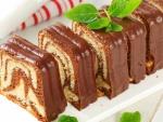 Pastel de vainilla y chocolate