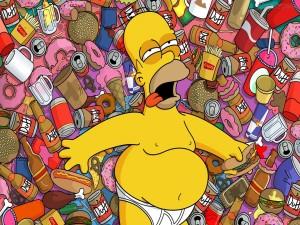 Postal: Homer empachado
