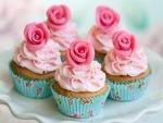 Bonitos cupcakes de rosas