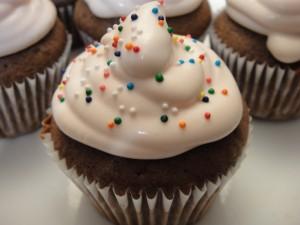 Cupcake con queso crema