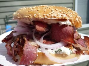 Hamburguesa de carne ahumada
