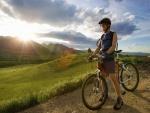 Ciclista en la montaña