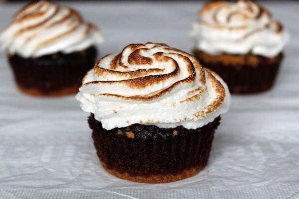 Cupcakes con merengue tostado