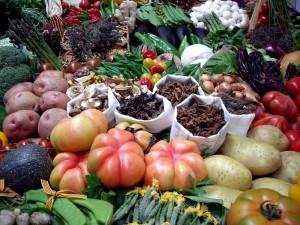 Postal: Selección de verduras