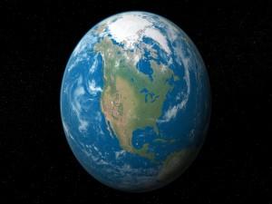 Postal: El planeta Tierra