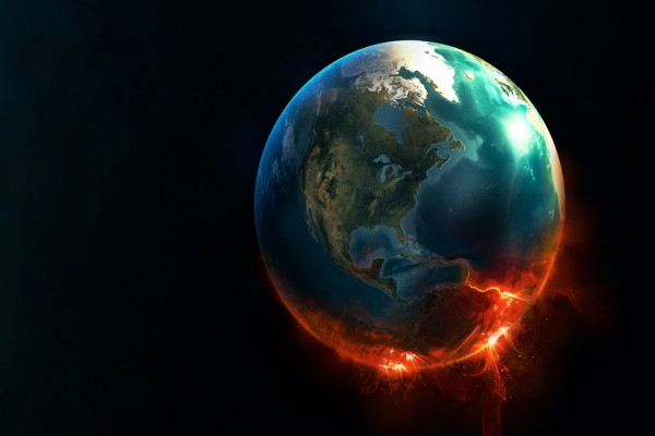 La Tierra en llamas