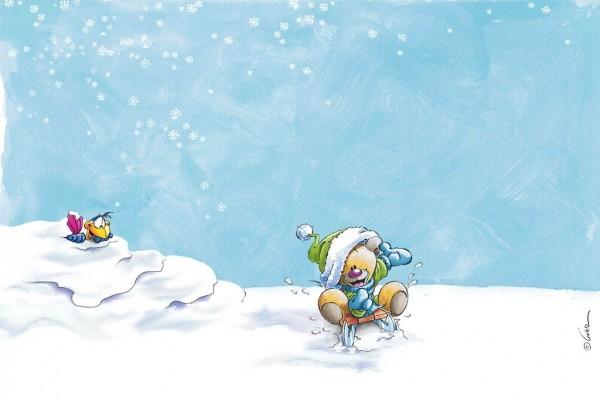 Diddl en la nieve