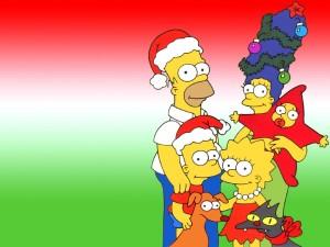 Postal: Navidad con los Simpsons