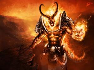Postal: Demonio de fuego