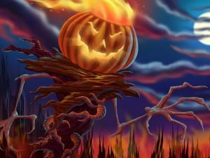 Calabaza diabólica en Halloween