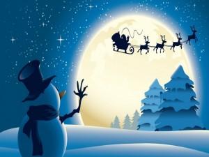 Saludando a Santa