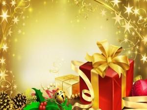 Postal: Regalos de Navidad