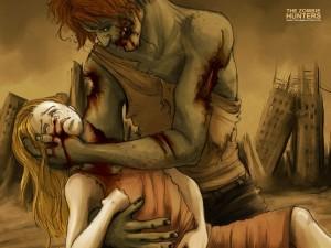 Zombie con su víctima