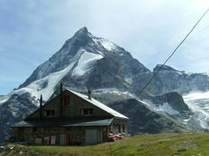 Postal: Refugio de Schönbiel (Alpes Suizos)