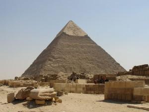 Pirámide de Jafra, en Guiza, Egipto