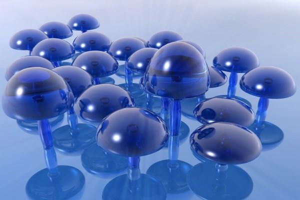 Setas azules