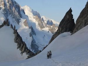 Escalando el glaciar Trient (Suiza)