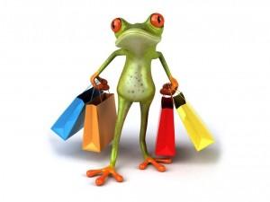 Postal: Ranita de compras
