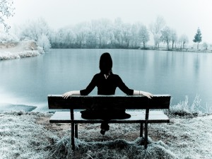 Paisaje invernal en calma