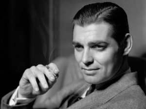 Clark Gable sin su característico bigote