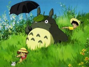 Totoro por el campo
