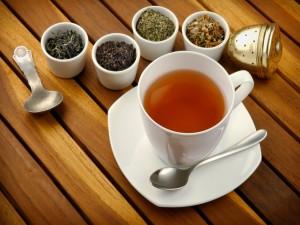 Cuatro tipos de hierbas de té