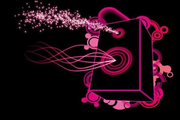 Altavoz rosa