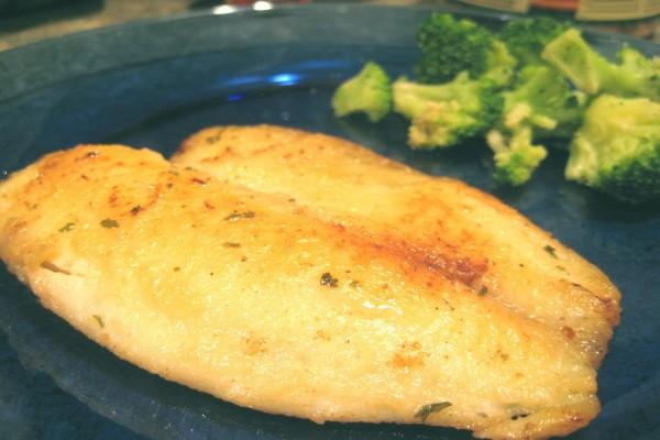 Filete de pescado con brócoli