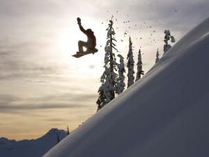Vuelo de snowboard