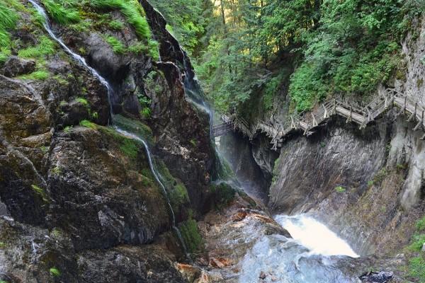 Gargantas del Durnand, en el municipio de Bovernier (Valais, Suiza)