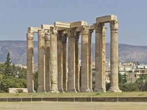 Postal: Templo de Zeus del Olimpo en Atenas (Ática, Grecia)