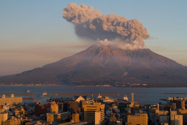 El Sakurajima, en Japón, uno de los volcanes más activos del mundo