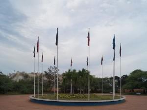 Plaza de las banderas, en la Vereda del Lago (Maracaibo, Venezuela)