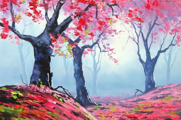Pintura de árboles