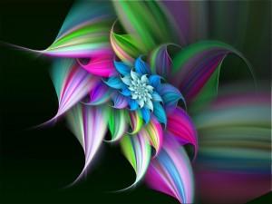 Postal: Arte floral digital