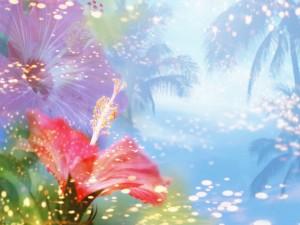 Postal: Estampa floral